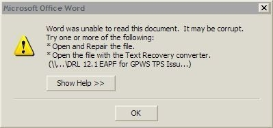 Or alternatively you could just tell me that the file ISN'T THERE!